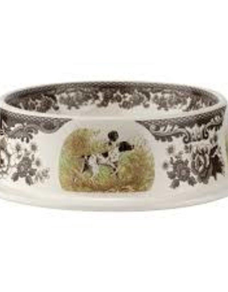"Spode- Woodland Dogs Pet Bowl 8.5"""