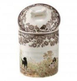 Spode- Woodland Dogs Treat Jar