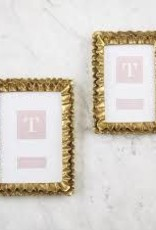 Two's Company - Gold Ruffles Frame 4x6