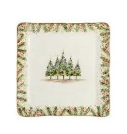 Arte Italica- Natale Square Plate Signed
