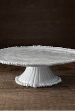 Melamine- Vida Alegria Pedastal Cake Plate White