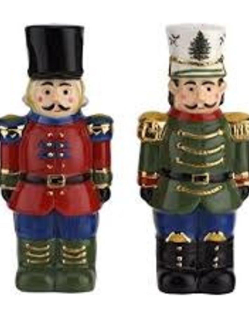 """spode Spode- Christmas Tree Nutcracker Salt & Pepper 4.5"""""""