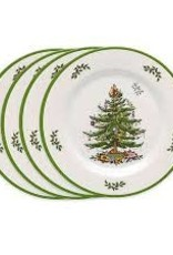 Spode- Christmas Tree Set of 4 Melamine Dinner Plates