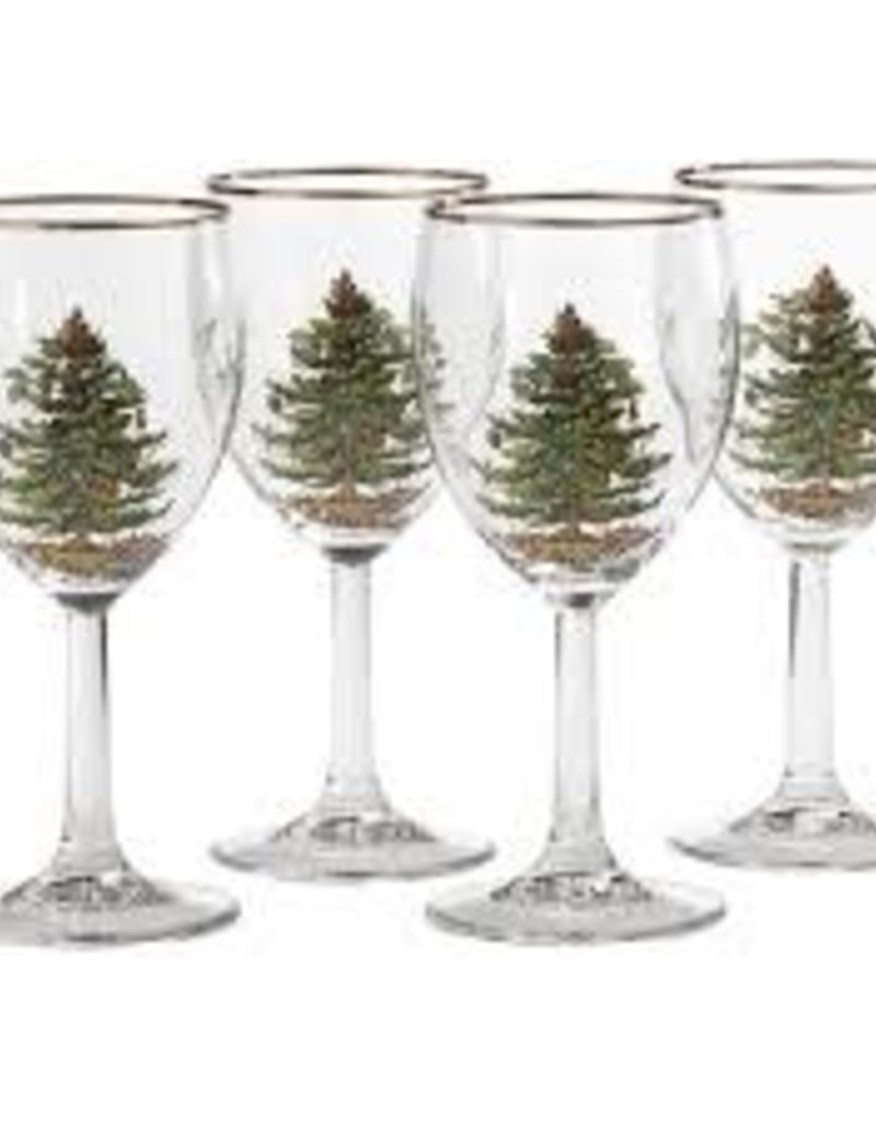 Spode - Christmas Tree Wine Glasses 13oz