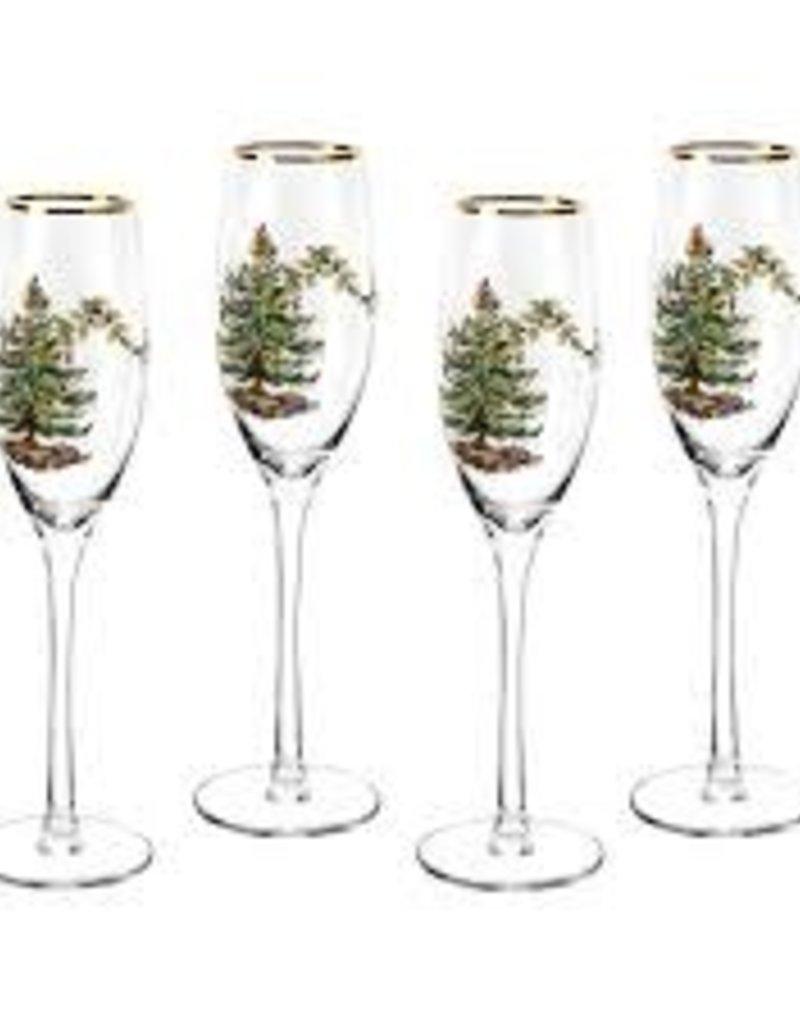 Spode - Christmas Tree Champagne Flute