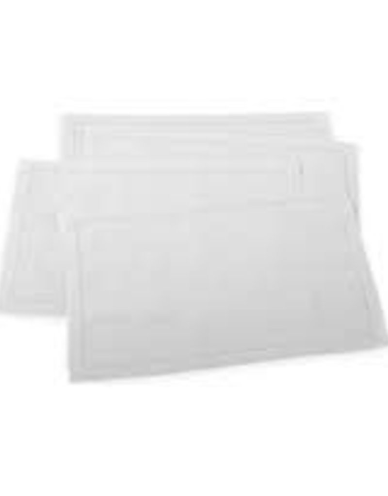 Saro-Placemat w/ Hemstitched Border (white) (set/4)