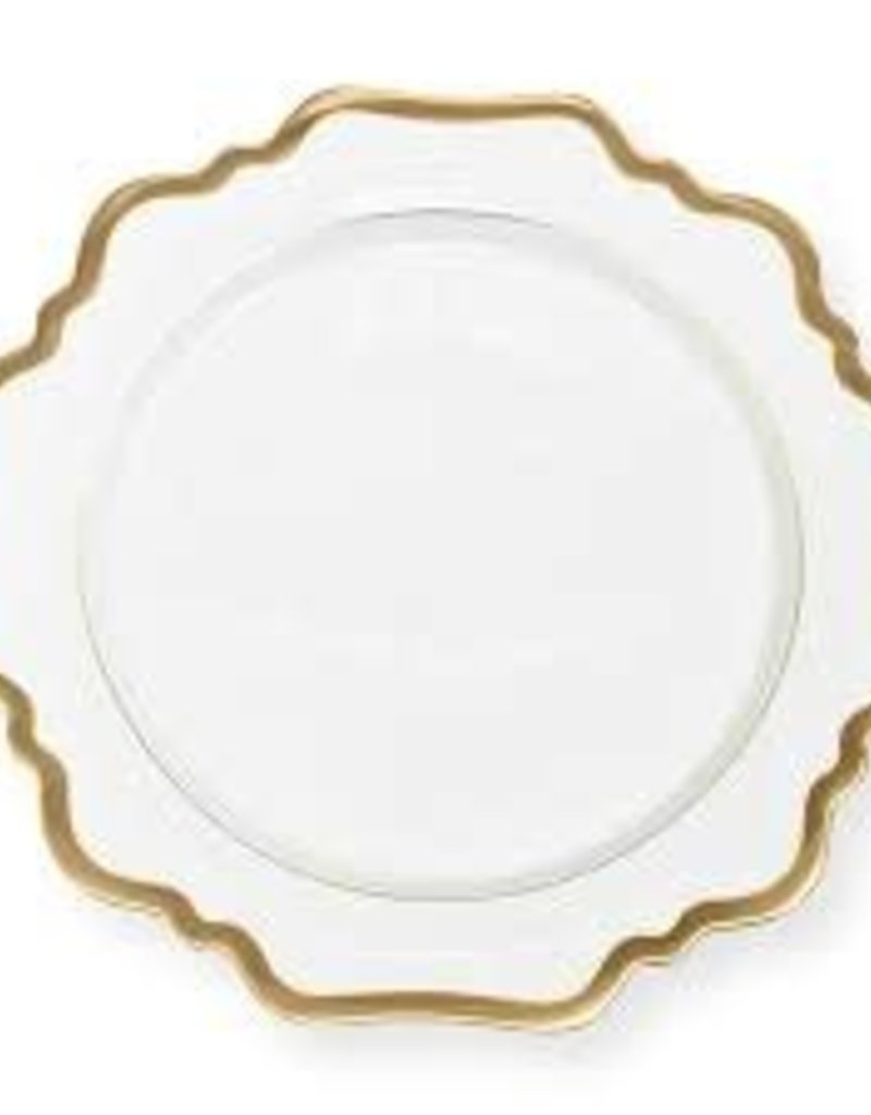 Anna Weatherley White Antique Charger