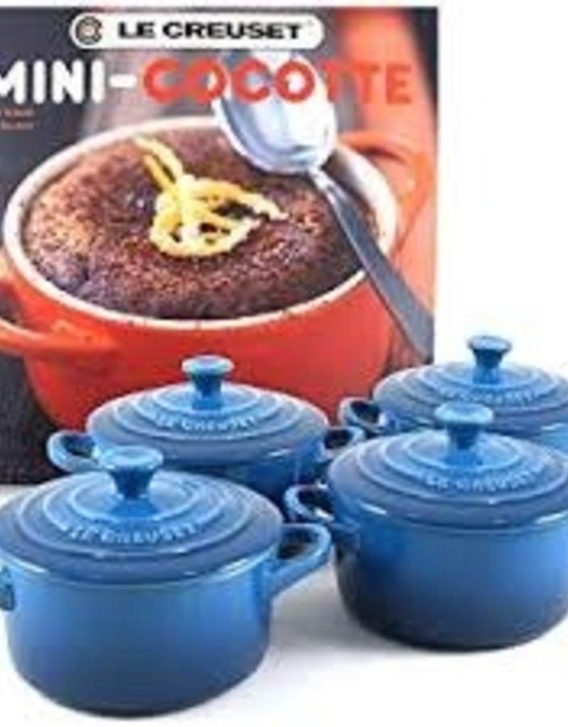 Le Creuset-Set/4 8 oz Mini Cocotte w/ Book