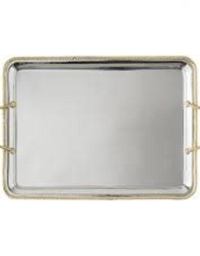 """Juliska- Handled Platter Periton Silver/Gold 17"""""""