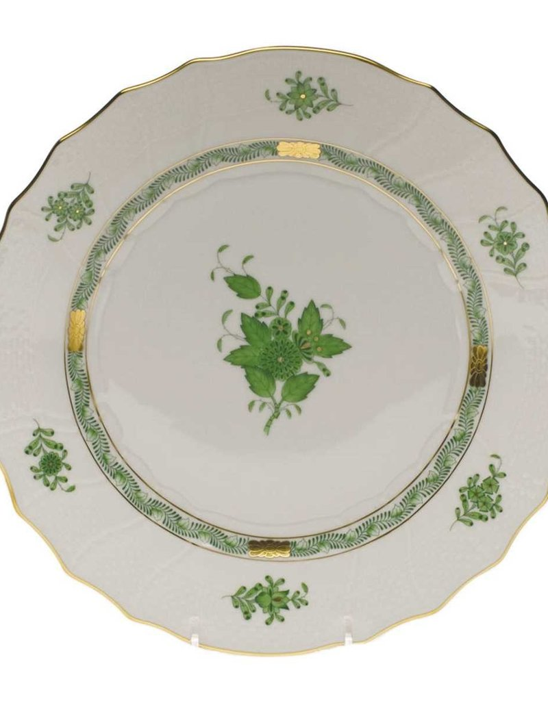 Herend - Chinese Bouquet Green Dinner Plate