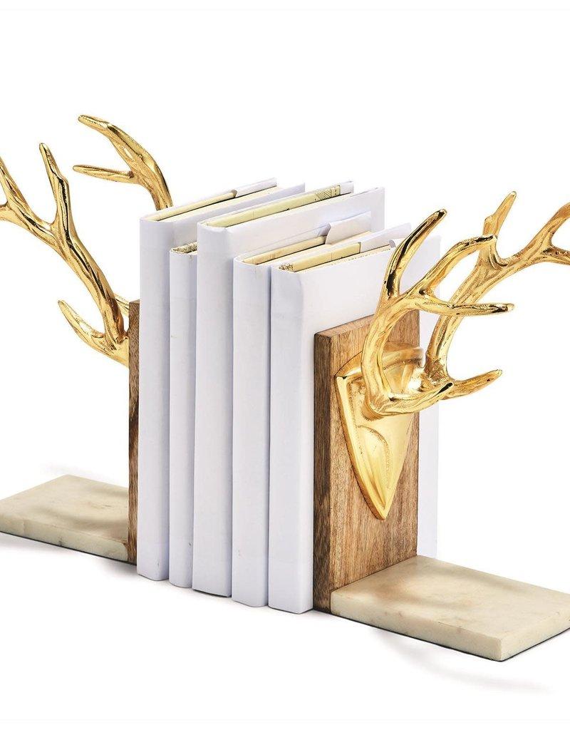 Golden Antler Bookends