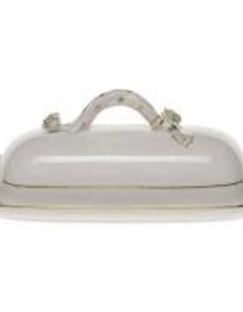 Herend- HDE-00398 Golden Edge Butter Dish w/ Branch