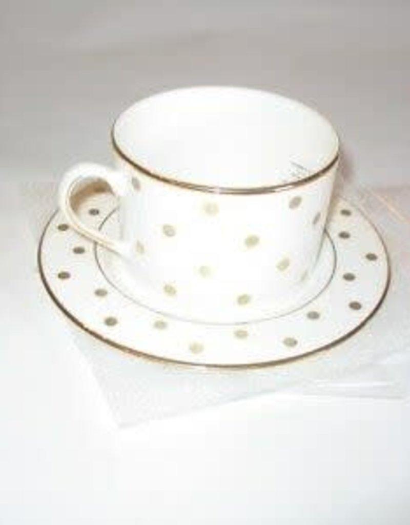 Lenox Kate Spade Larabee Road Gold Teacup/Saucer