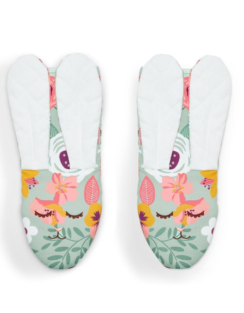 Floral Bunny Oven Mitt