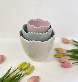 Set/3 Speckled Egg Bowls