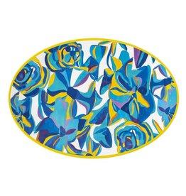 """Juliska 20"""" Serving Platter Blue Rose Melamine"""
