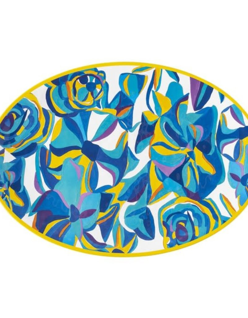 "Juliska 20"" Serving Platter Blue Rose Melamine"