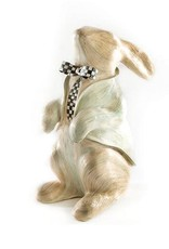 "Mackenzie Childs Watercolor Bunny Aqua 6"" wide, 10"" long, 15.5"" tall"