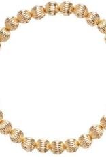 ENewton Honesty Gold Sincerity Pattern 6mm Bead Bracelet
