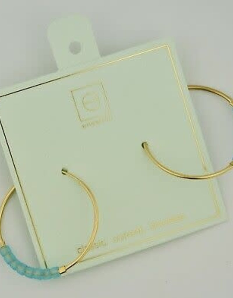 Enewton - Flirty Large Hoop Gold Earring Turquoise