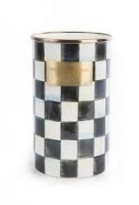 Mackenzie Childs Courtly Check Enamel Utensil Holder