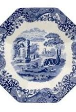"""spode Spode - Blue Italian Octagonal Platter 14"""""""