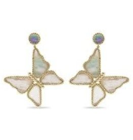 Capucine De Wulf Capucine De Wulf - Grand Butterfly Mother of Pearl Earrings