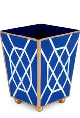 Jaye's Studio- Blue/White Don't Fret Square Wastebasket