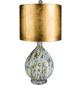 "SY - GAB-001 Gabrial Lamp with Gold Shade 25"" H x 12"" W x 12"" D Lamp"