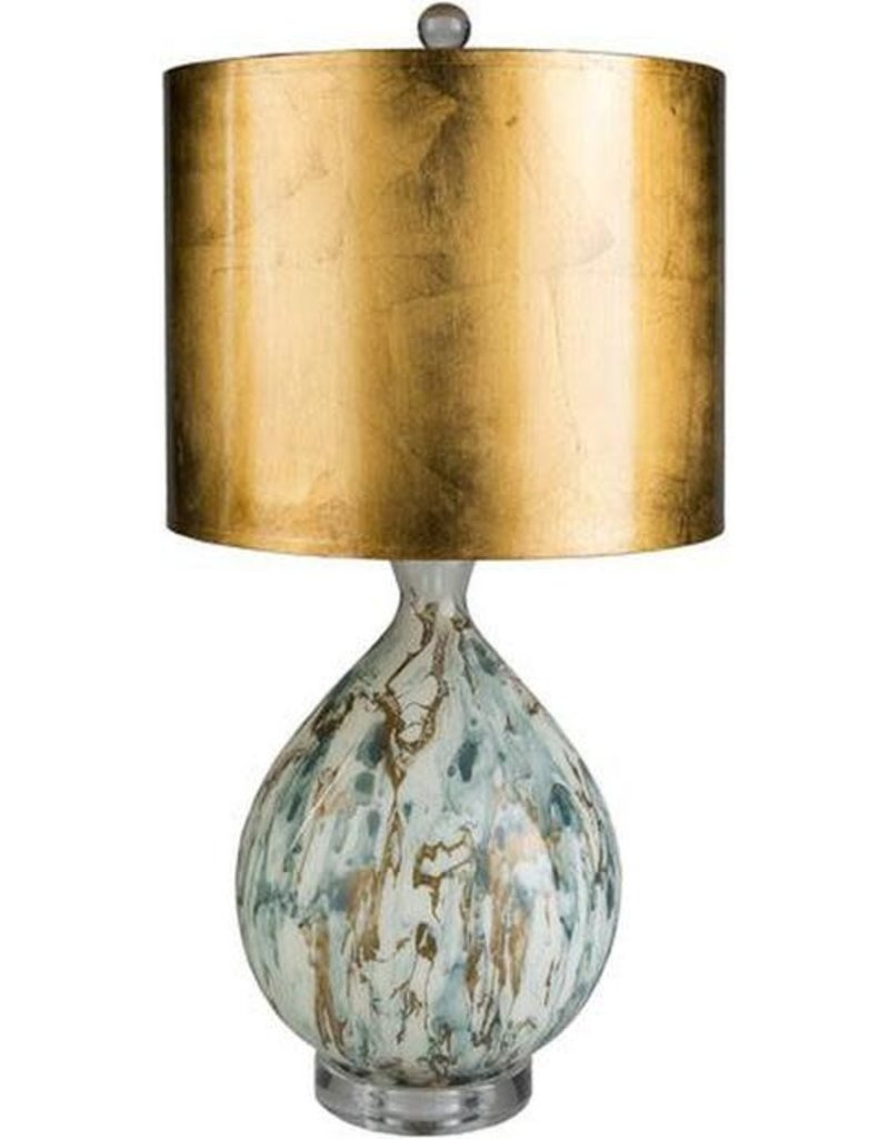 """SY - GAB-001 Gabrial Lamp with Gold Shade 25"""" H x 12"""" W x 12"""" D Lamp"""