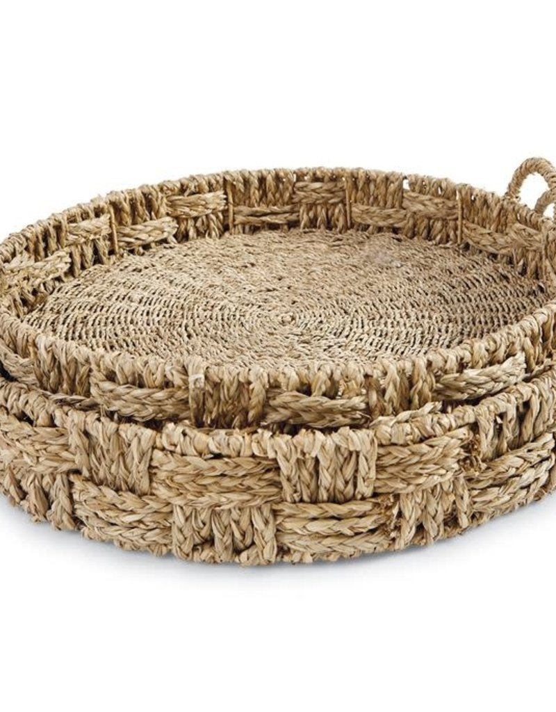 Round Nested Seagrass Trays (set/2)
