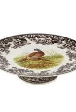 """Spode- Woodland Footed Cake Plate 10.5"""" Pheasant"""