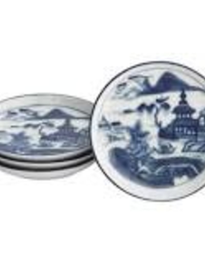 Mottahedeh - Blue Canton Coaster set of 4