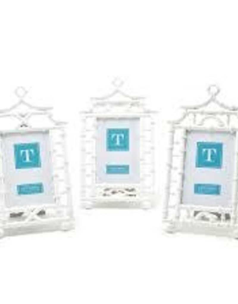 Two's Company- White Pagoda 4x6 Photo Frame