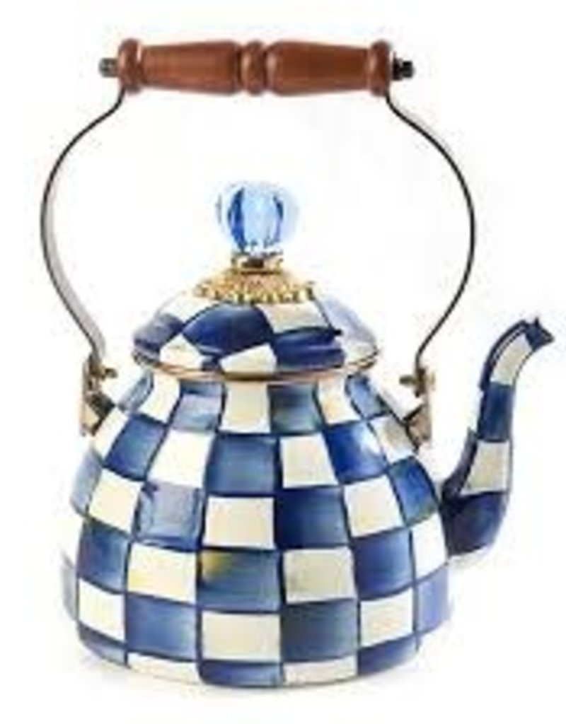 Mackenzie Childs - Royal Check Tea Kettle 2 Quart