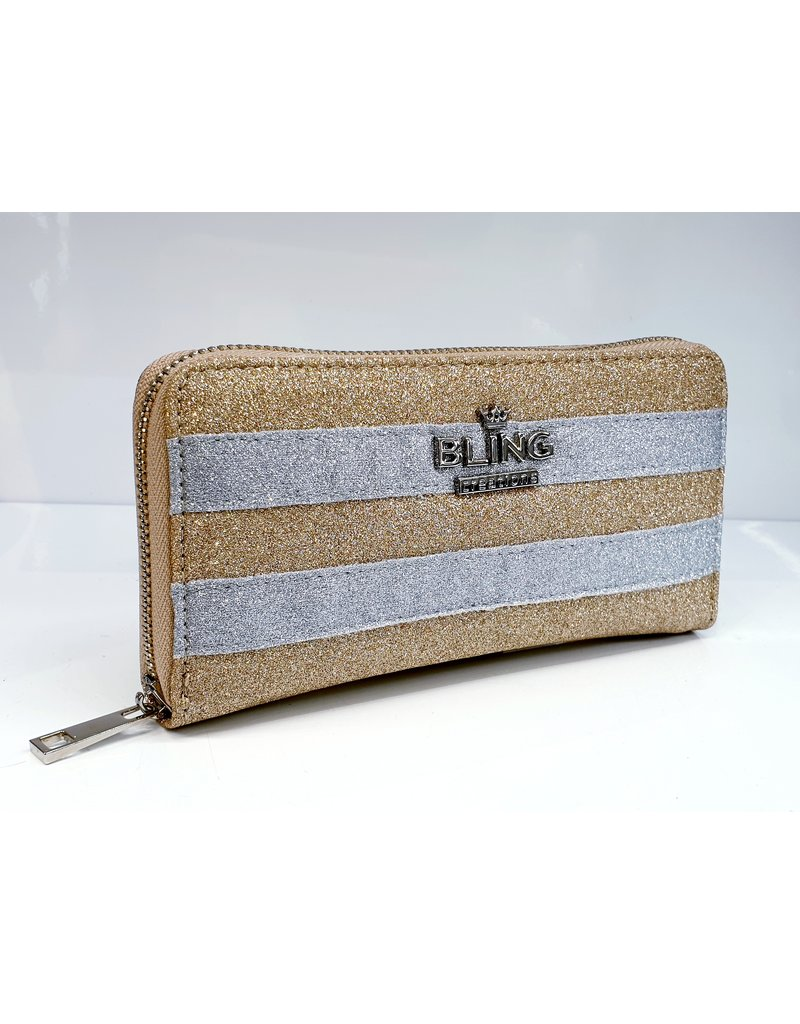 Gold Striped Wallet - 70230014