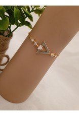Gold Adjustable bracelet-BJD0003