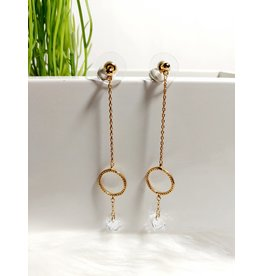 Gold Earrings-E00678P0