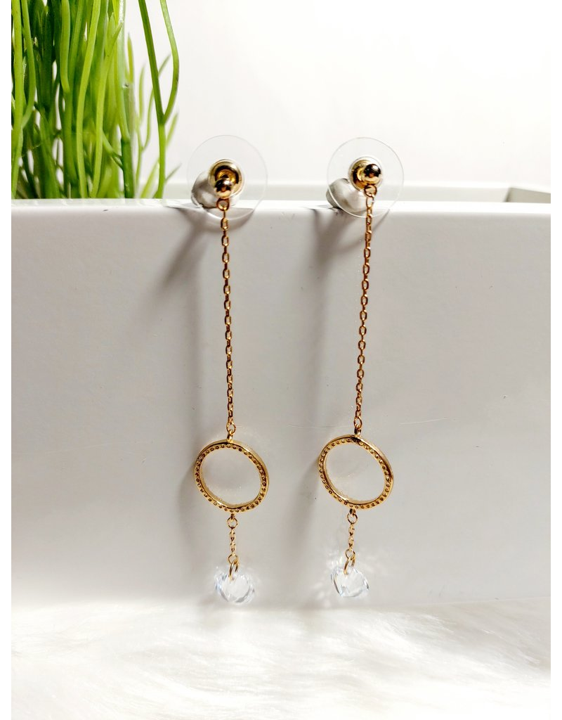 Gold Earrings-E00678P0