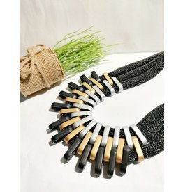 Black Statement Necklace-50310048