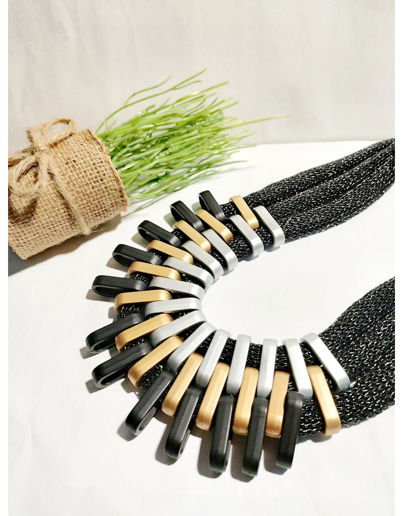 Black Statement Necklace-50310048
