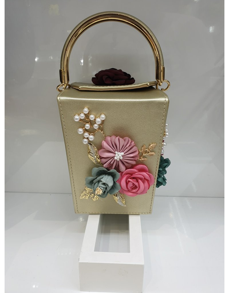 40241208 - Gold Flower Clutch Bag