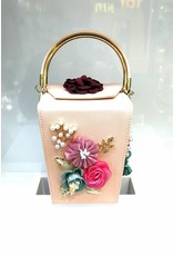 40241210 - Pink Flower Clutch Bag