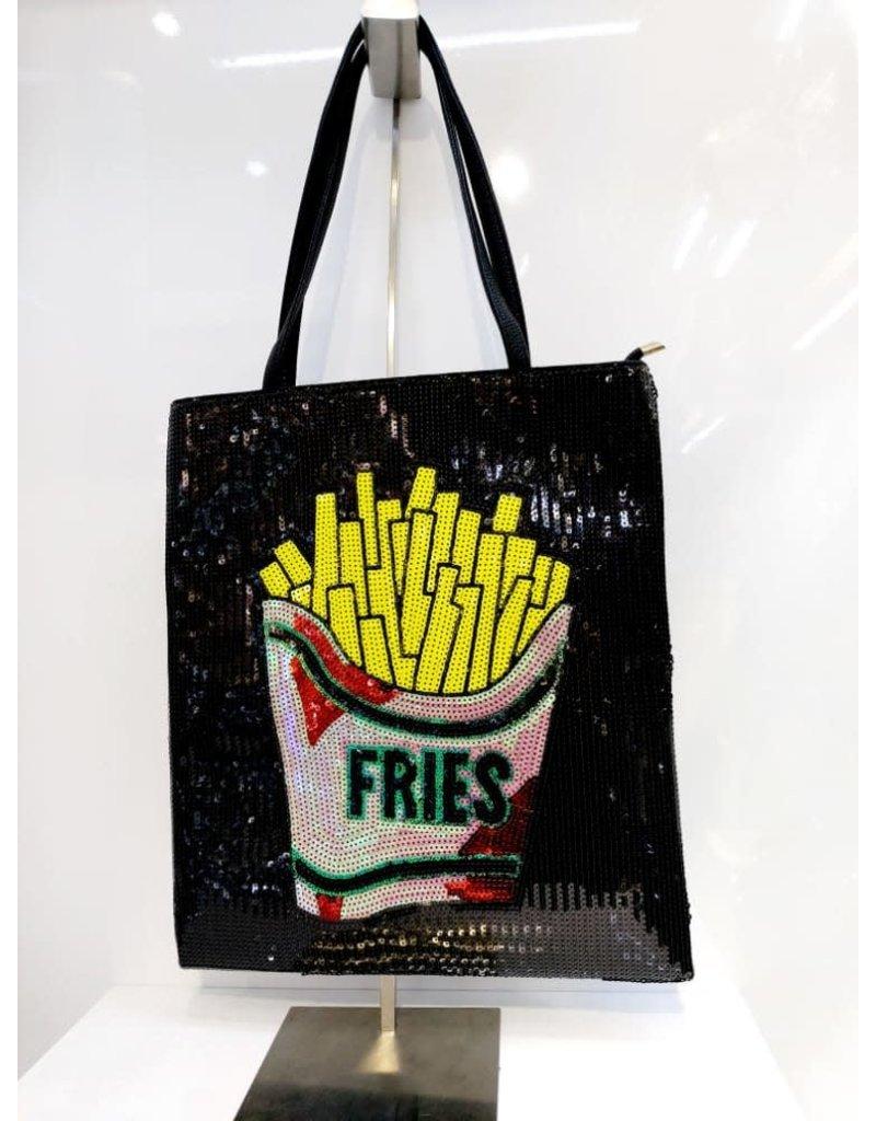 40241296 - Fries Large Black Clutch Bag