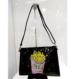 40241297 - Fries Small Black Clutch Bag