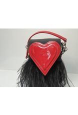 40241295 - Heart Black, Red Sling/Clutch Bag