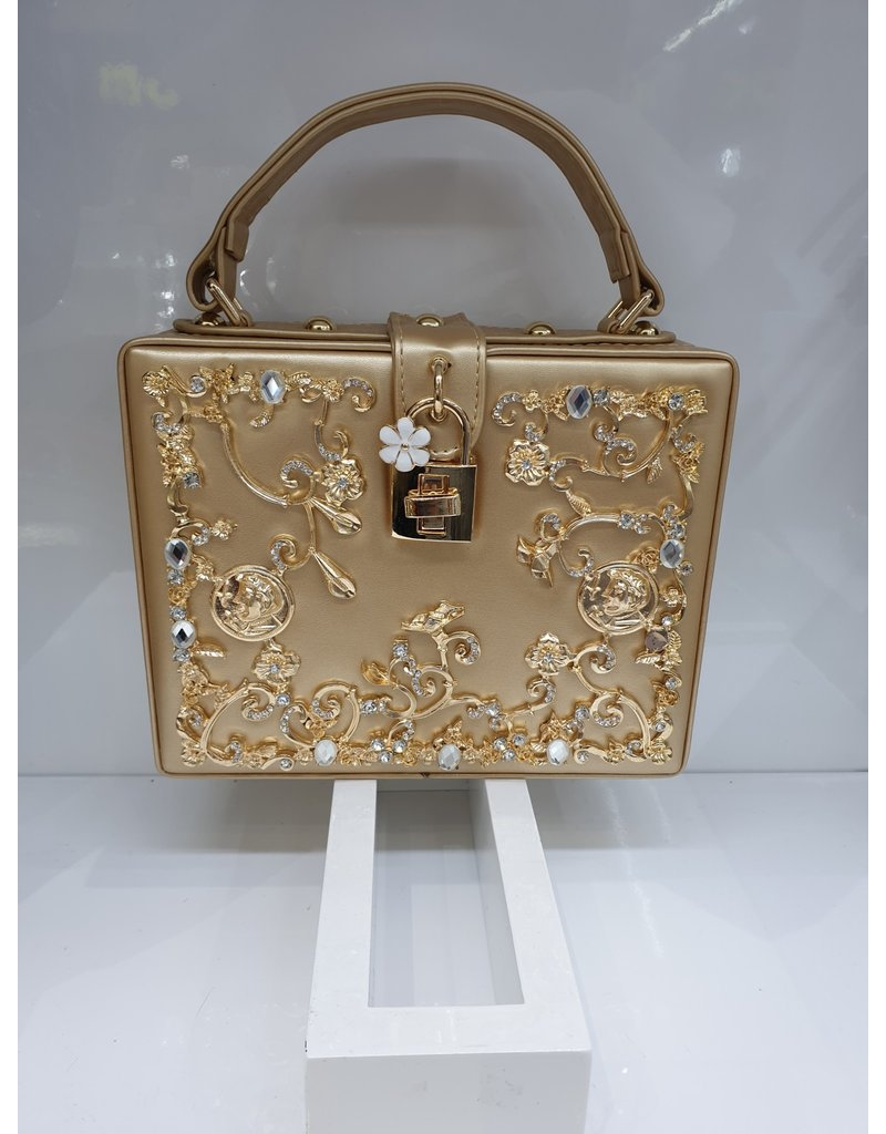 40241323 - Gold Box Clutch Bag
