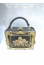 40241329 - Silver, Gold Box Clutch Bag