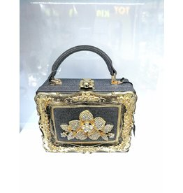 40241329 - Silver, Gold Box Clutch Bag