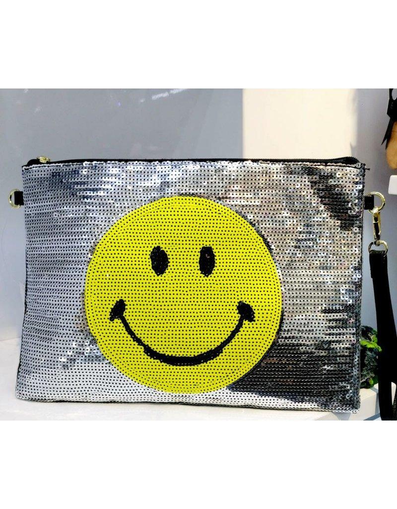 40241238 - Silver Smiley Clutch Bag